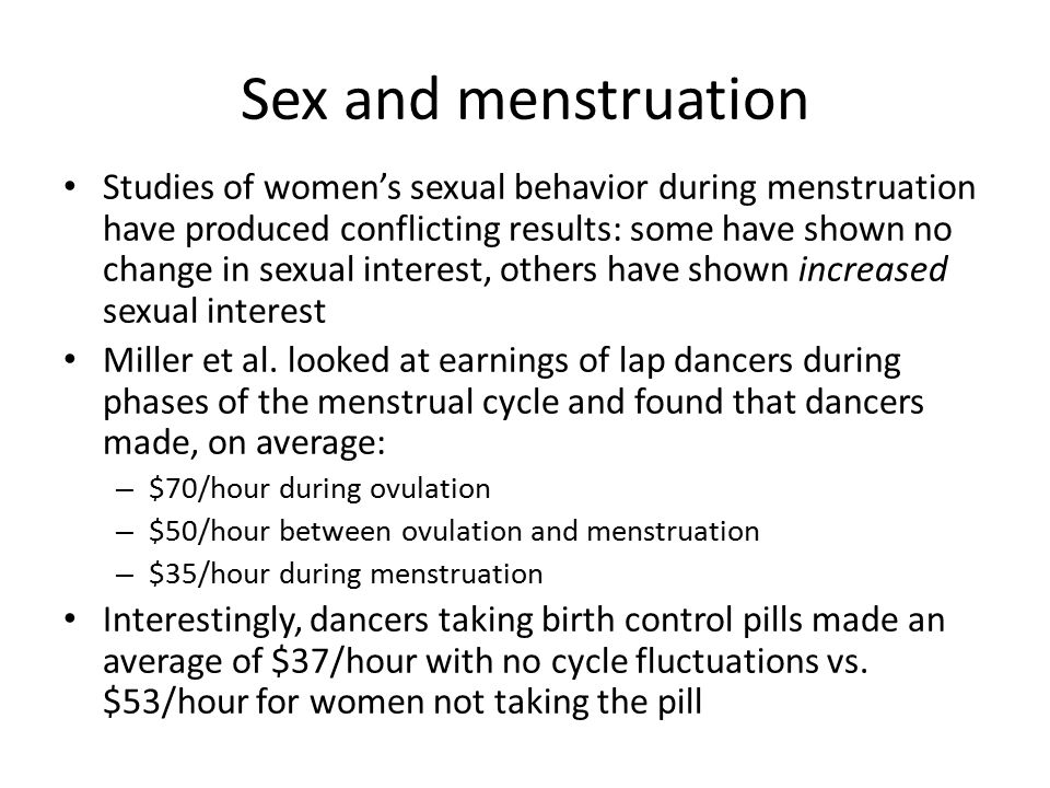 Sex during menstrual cycle pics