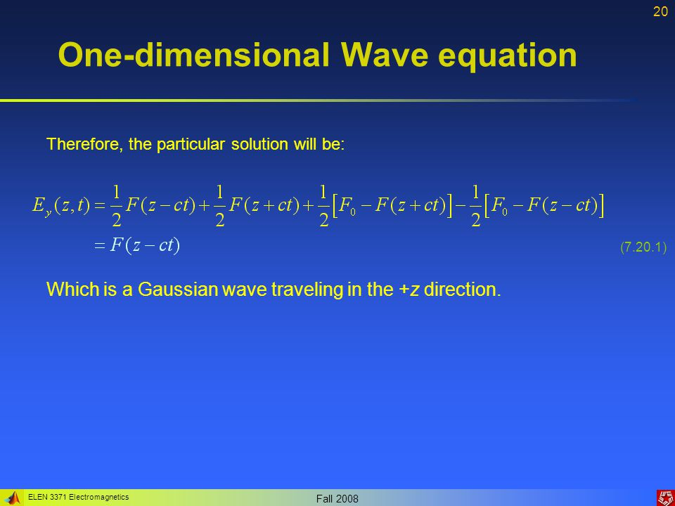 lecture 7  helmholtz wave equations and plane waves