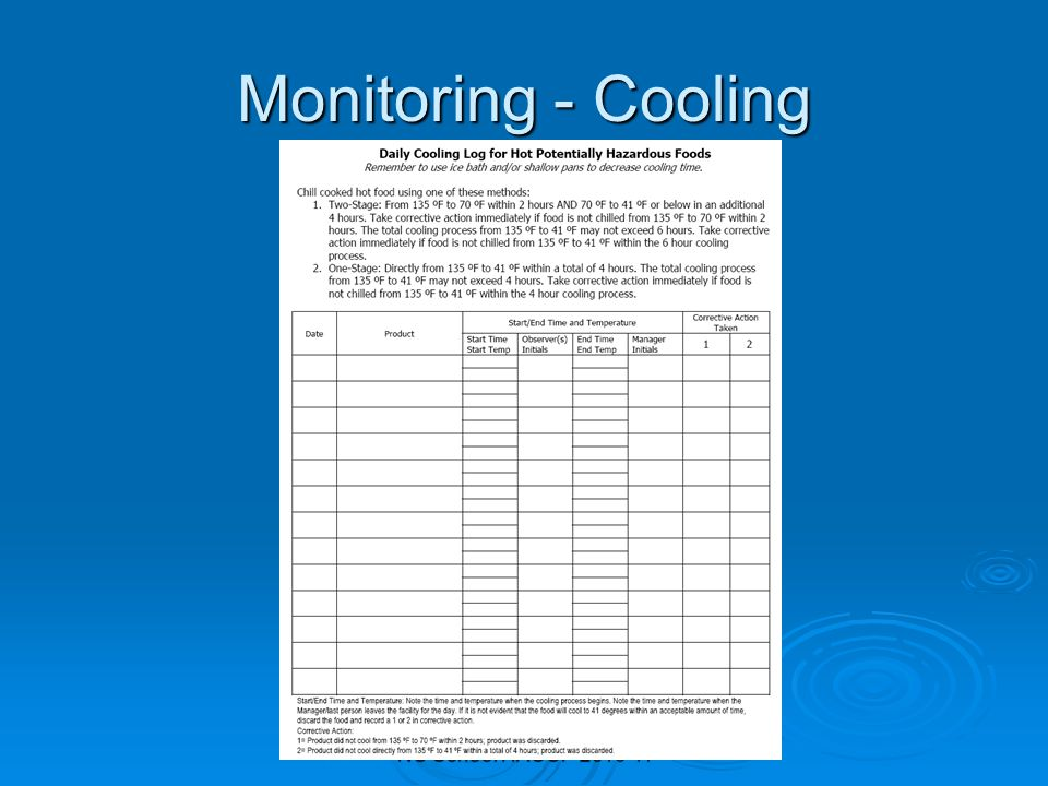 Cooling Food Properly : Child nutrition manager training ppt download