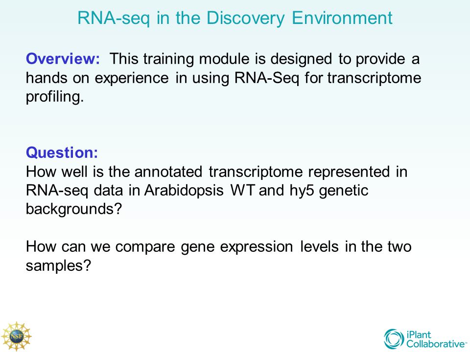 RNA-seq in the Discovery Environment