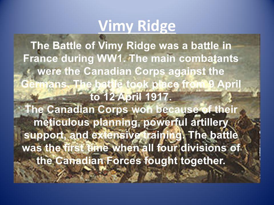a study on the battle of vimy ridge
