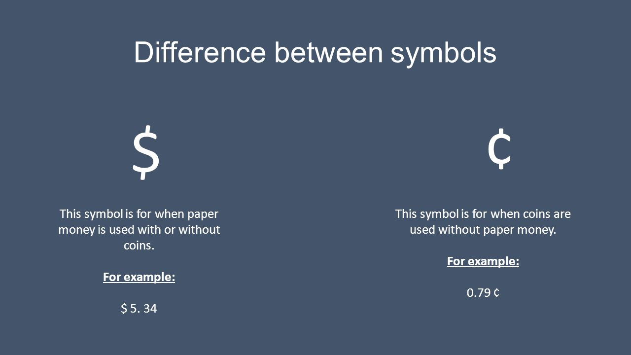 Difference between symbols