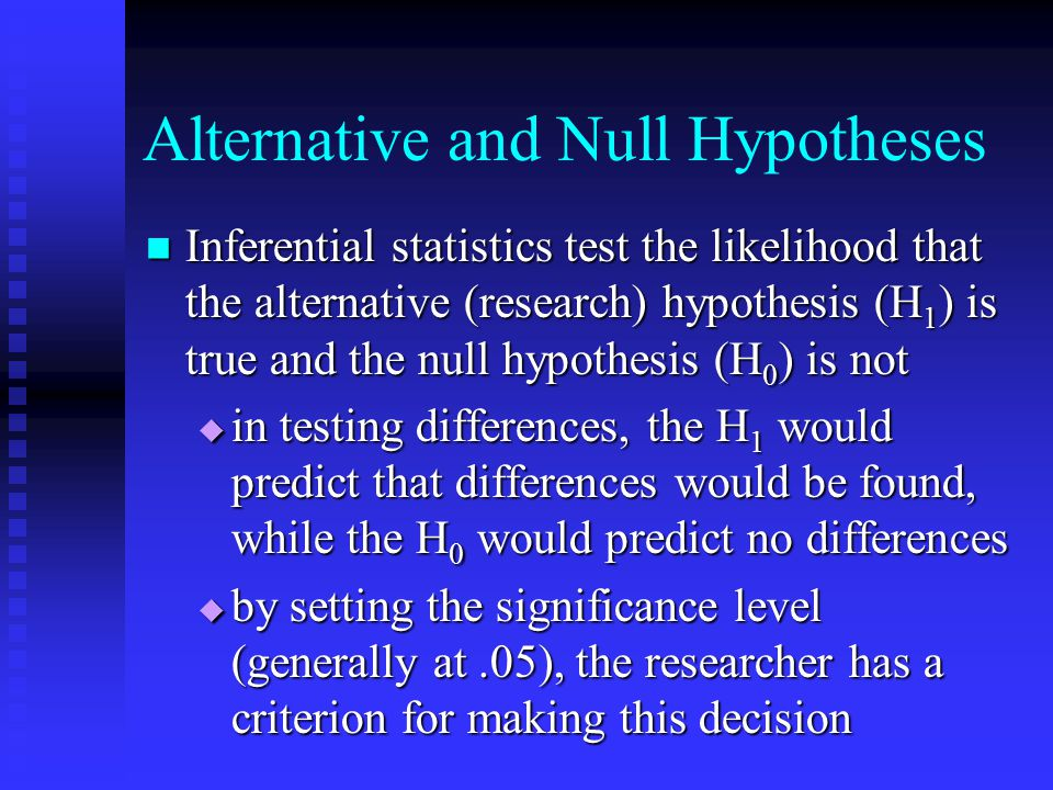 Alternative and Null Hypotheses