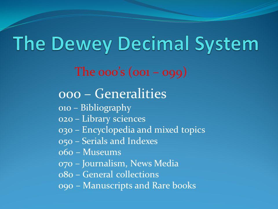 dewey decimal classification online