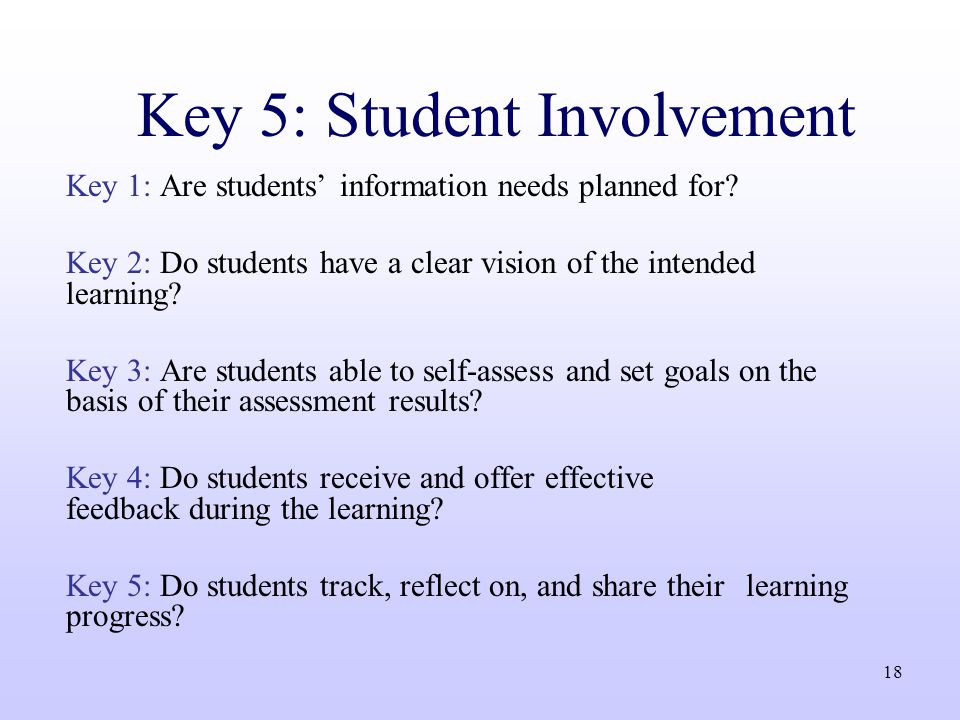 Student involvement improved decision quality