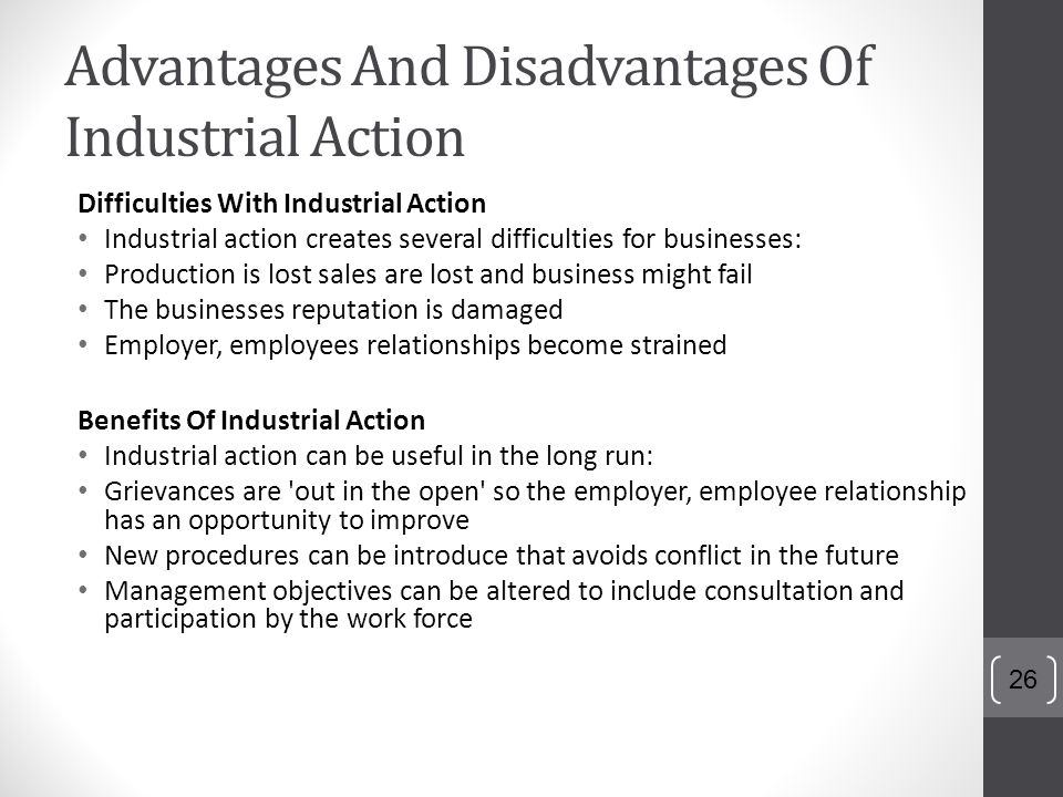 disadvantages of industrialization Finally, we must evaluate the advantages and disadvantages of industrialization as women experienced them, as workers, as wives, as mothers women have always worked the industrial revolution did not usher in a new phase in the employment of women in that sense.