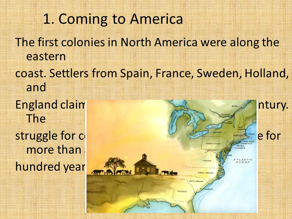 the beginning of english colonies in north america The first by the colonial official louis armand successful north american colonies required south carolina, georgia, and the northern third of florida (and from sea to sea, the norm in english colonial charters.