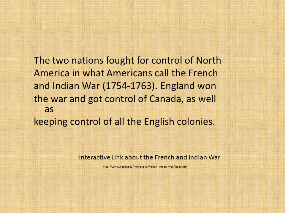 """the control of england in north america European competition for control of north america unit 2 colonization to independence 2014 - 2015  - most of south america - central america - southern/sw north america - caribbean  geographic locations france """"new france"""" - eastern canada - miss river valley (louisiana terr)  church of england) political reasons the english."""