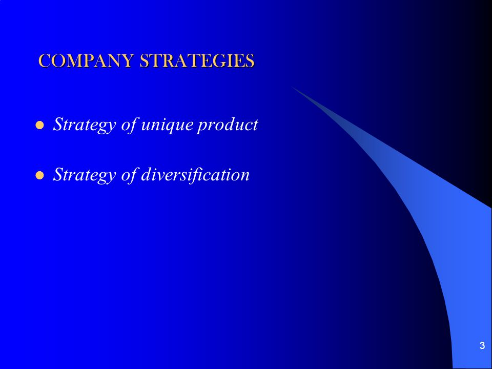 Companies using diversification strategy