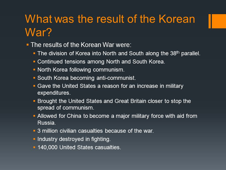 the consequences of the korean war by dalmonegoresources tpt