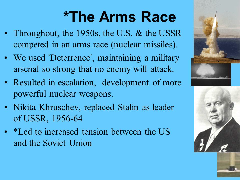 dbq tension between soviet union and us Free essay: after world war ii, tensions began between the united states and  the soviet union fighting between the united states and soviet.