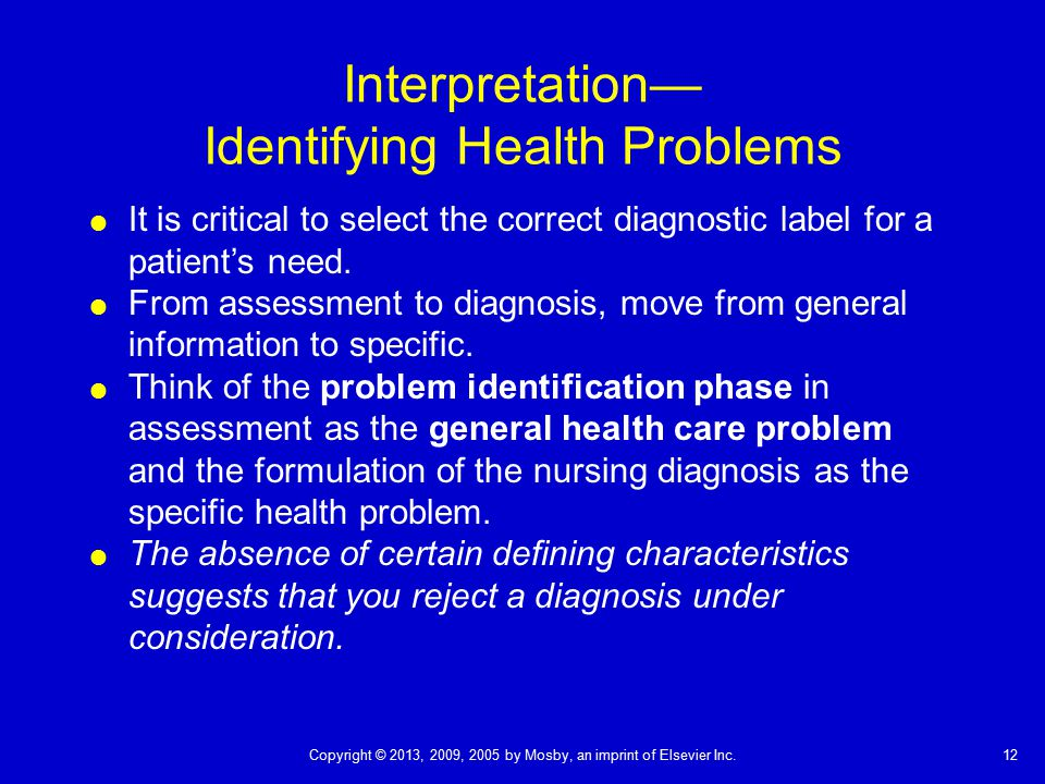 Interpretation— Identifying Health Problems