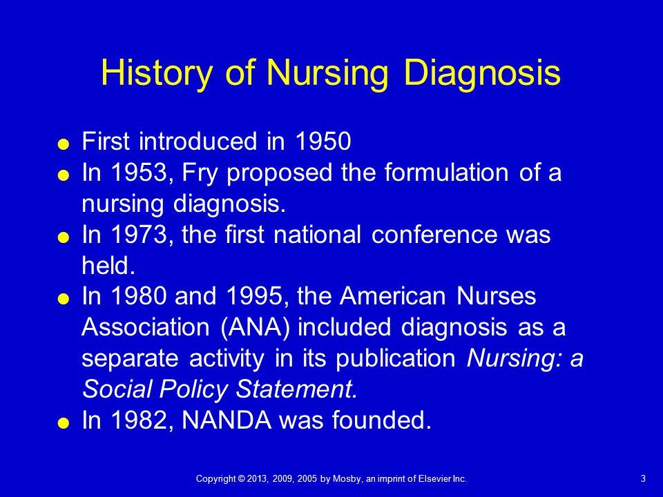 History of Nursing Diagnosis