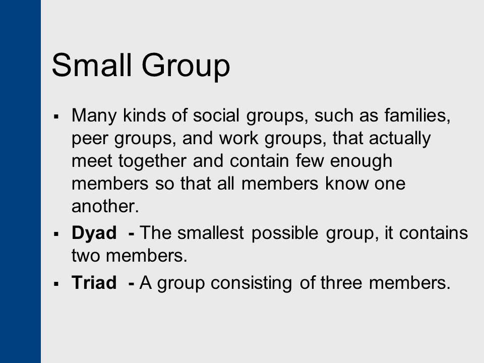 Small Group