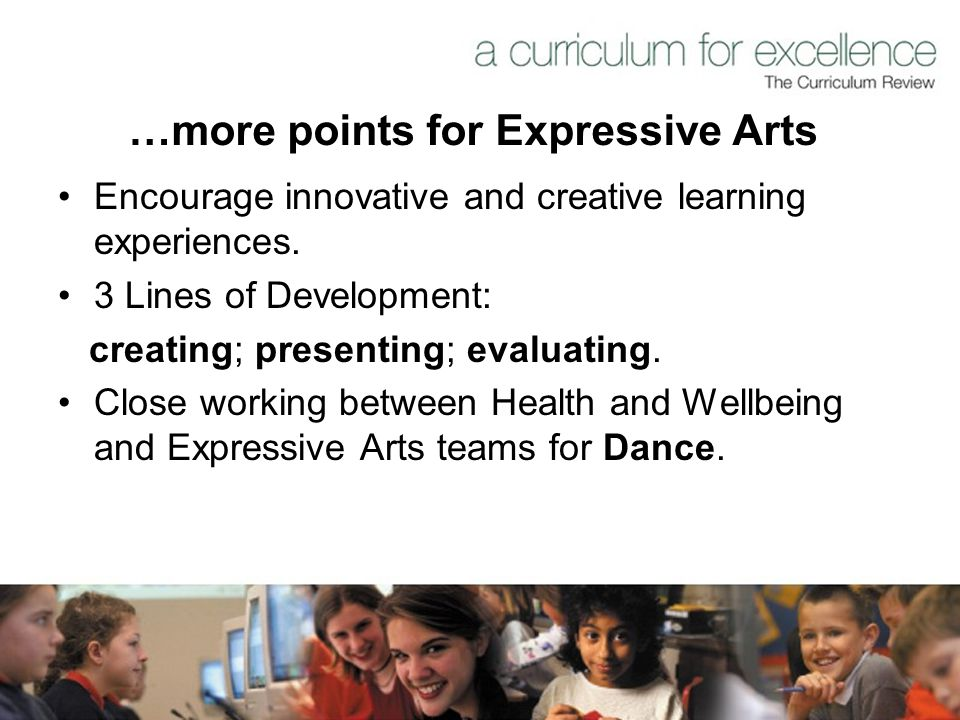 …more points for Expressive Arts