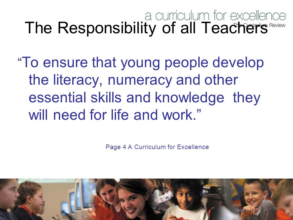 The Responsibility of all Teachers