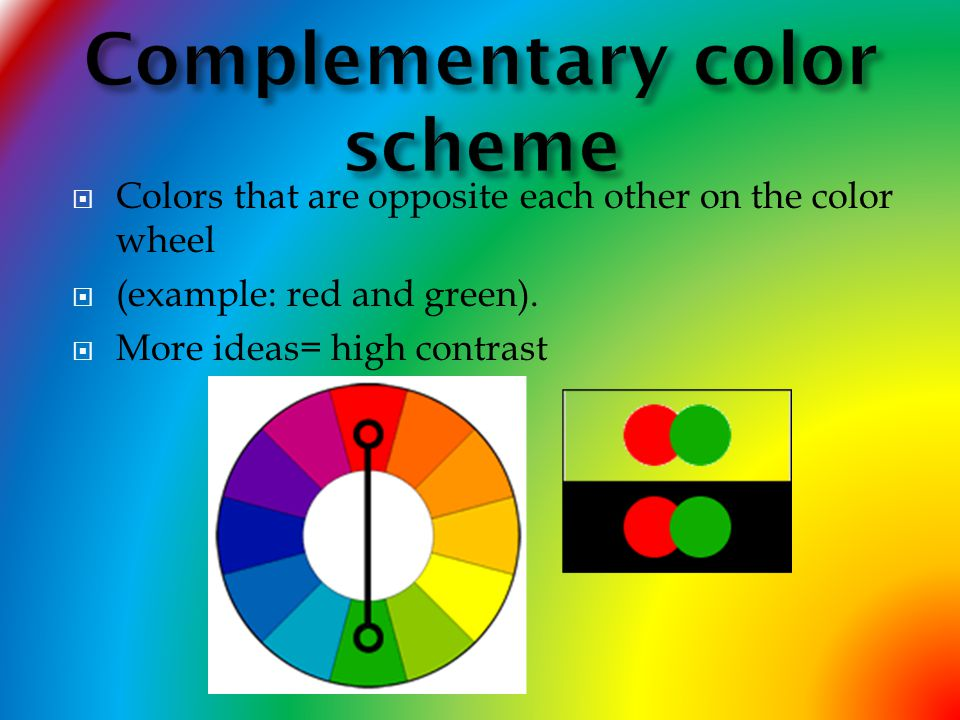 Red Complementary Color Scheme color theory vocabulary :) - ppt video online download