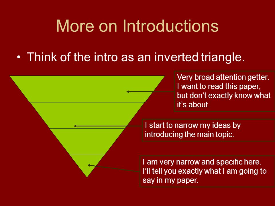 How to Write an Inverted Triangle Opening Paragraph