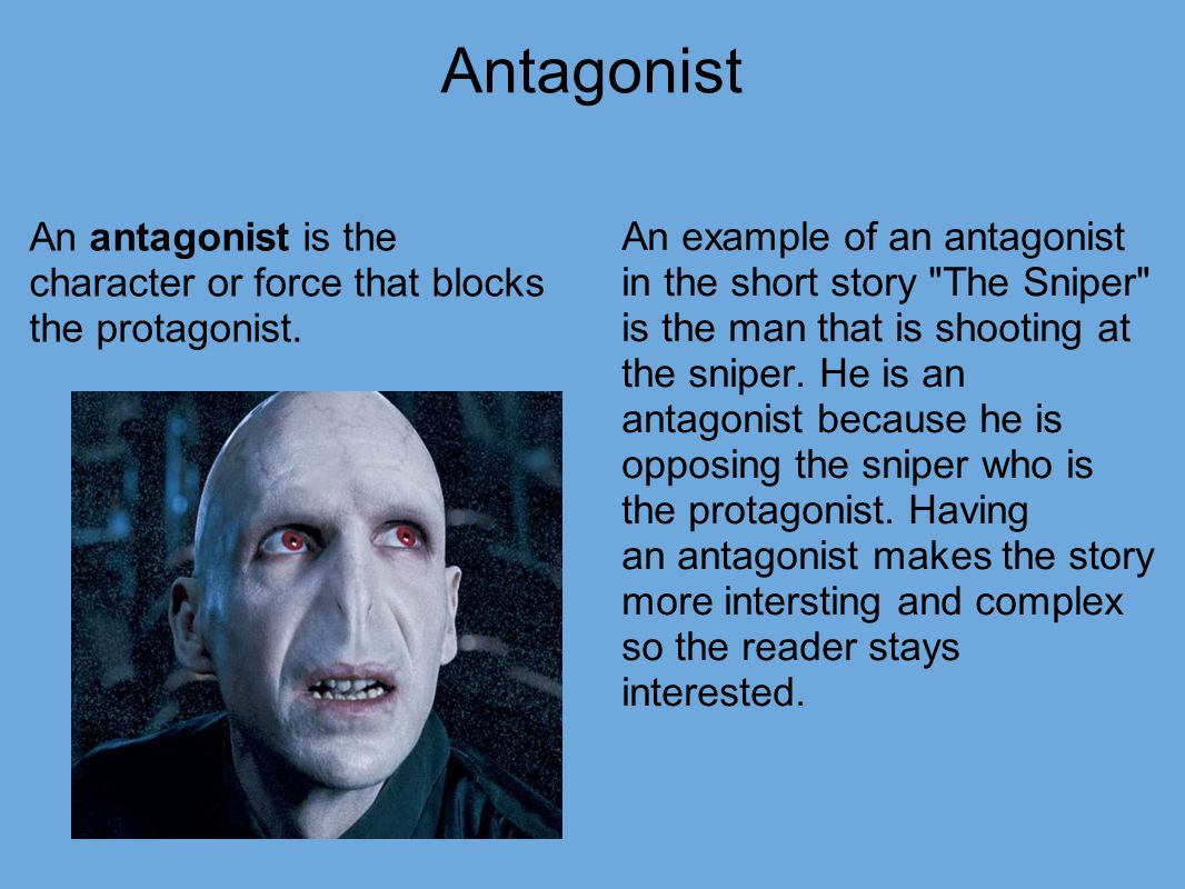 how to find the protagonist and antagonist