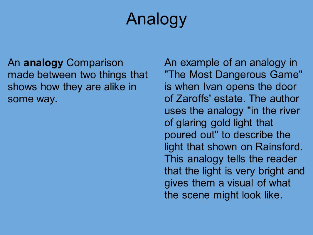 Analogy Examples And Definition Literary Devices
