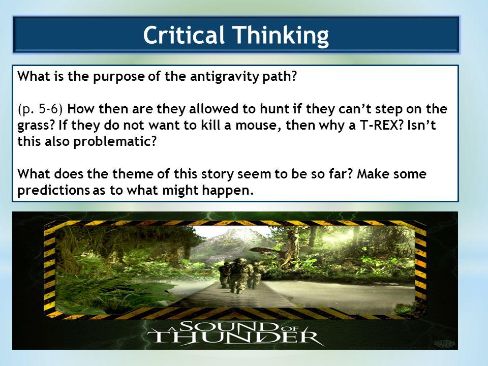 describe the purpose of critical thinking