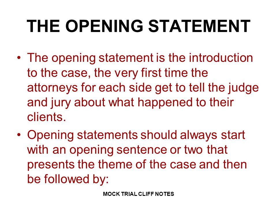 law 1 mock trial cliff notes mock trial cliff notes ppt video online download