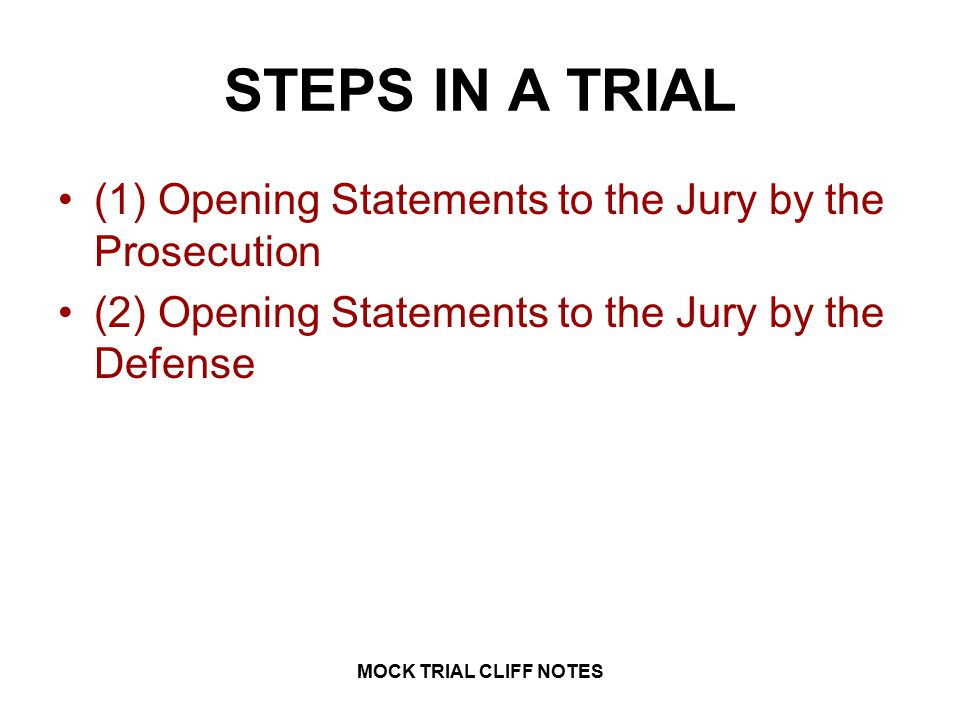 How To Write A Mock Trial Cross Examination Examples