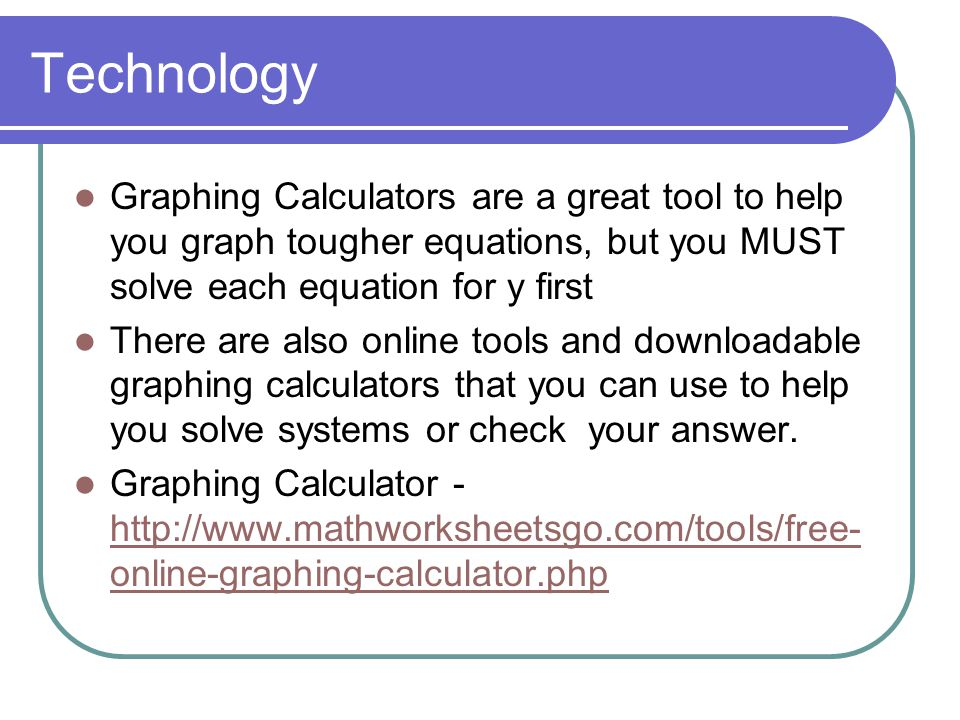 Graphing Calculator Online Solve For X. solving linear systems ppt ...