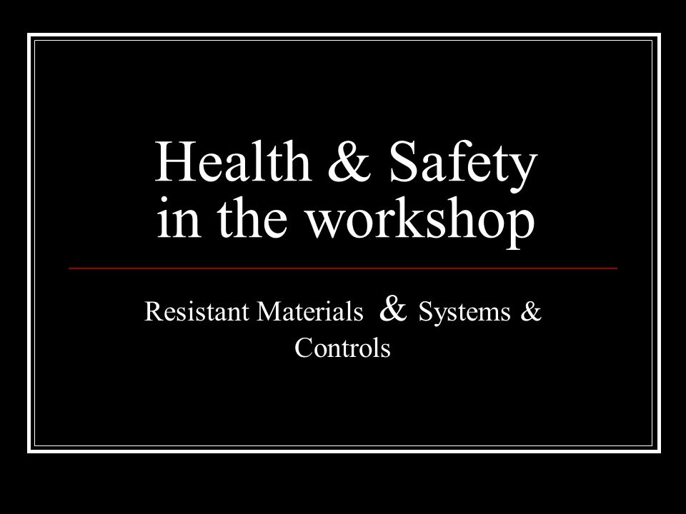 health and safety in the workshop essay Essay writing guide health and safety the health and safety at work act 1974 brought together a range of legislation covering health and safety since the first.
