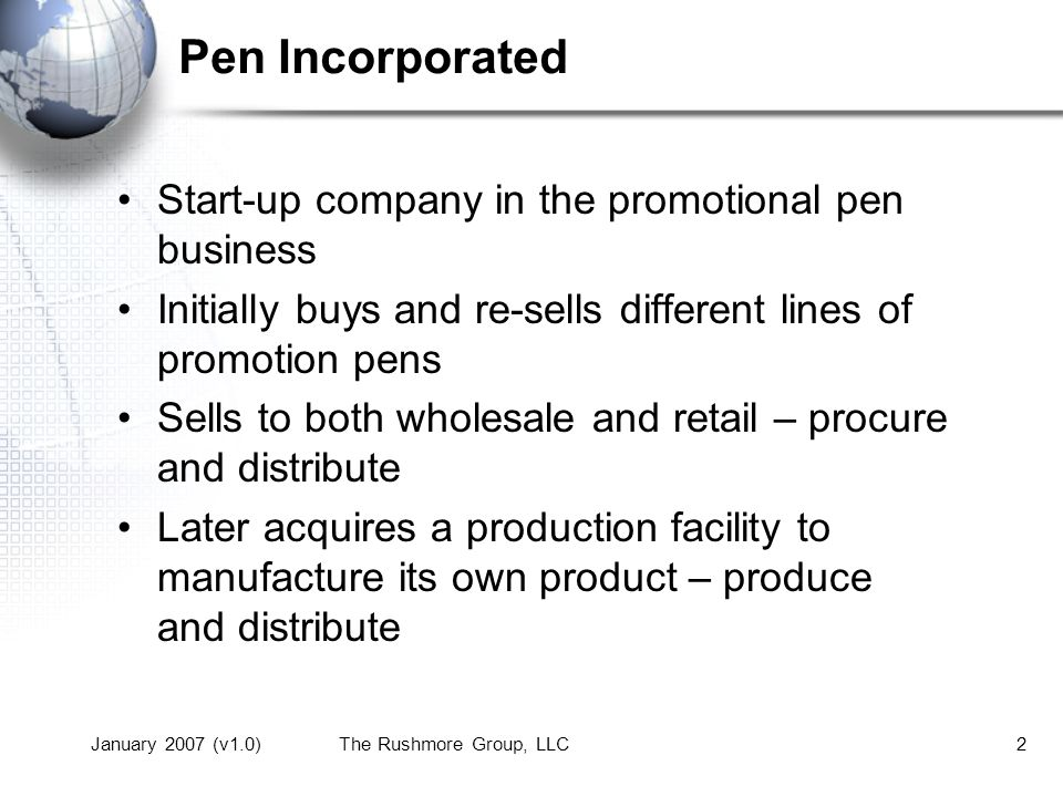 Pen Inc Introduction to Your Company - ppt download