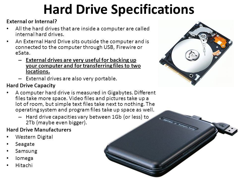 Hard Drive Specifications