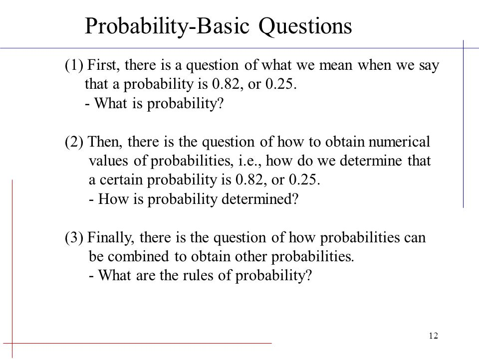 Probability-Basic Questions