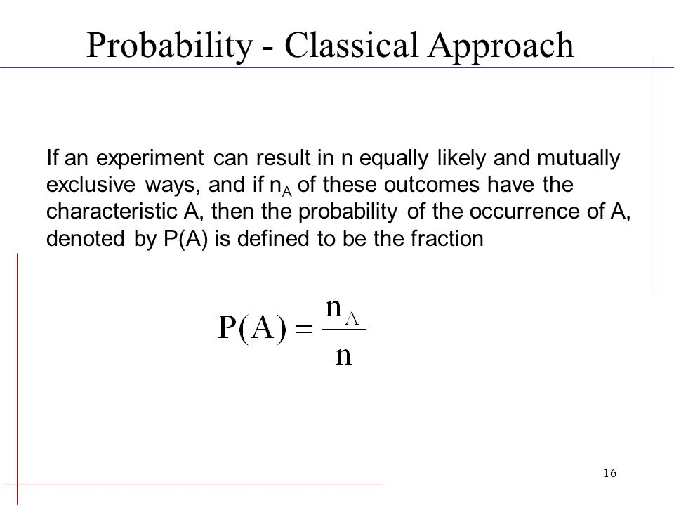 Probability - Classical Approach