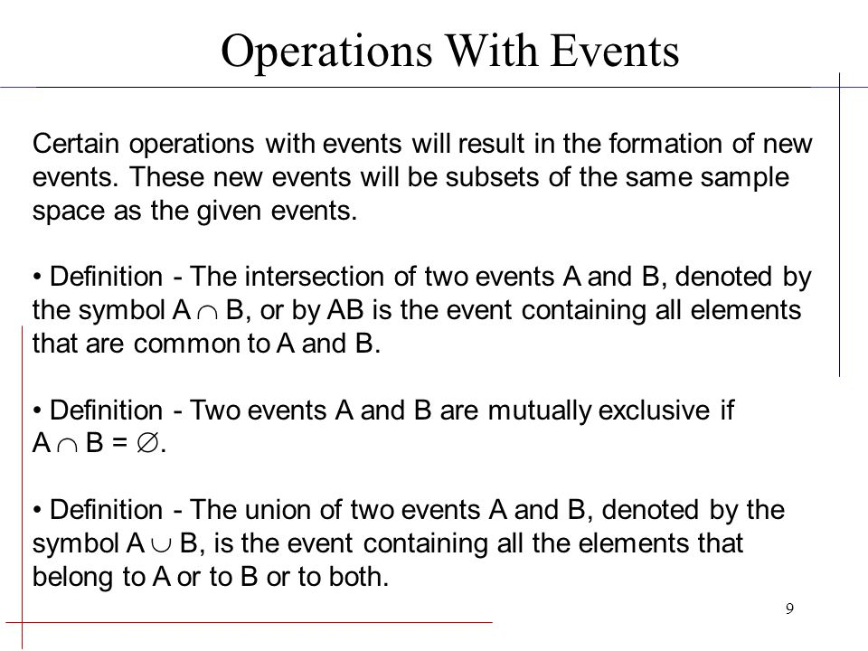 Operations With Events