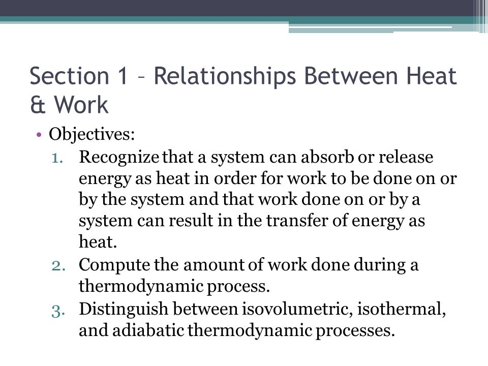 heat work and internal energy relationship