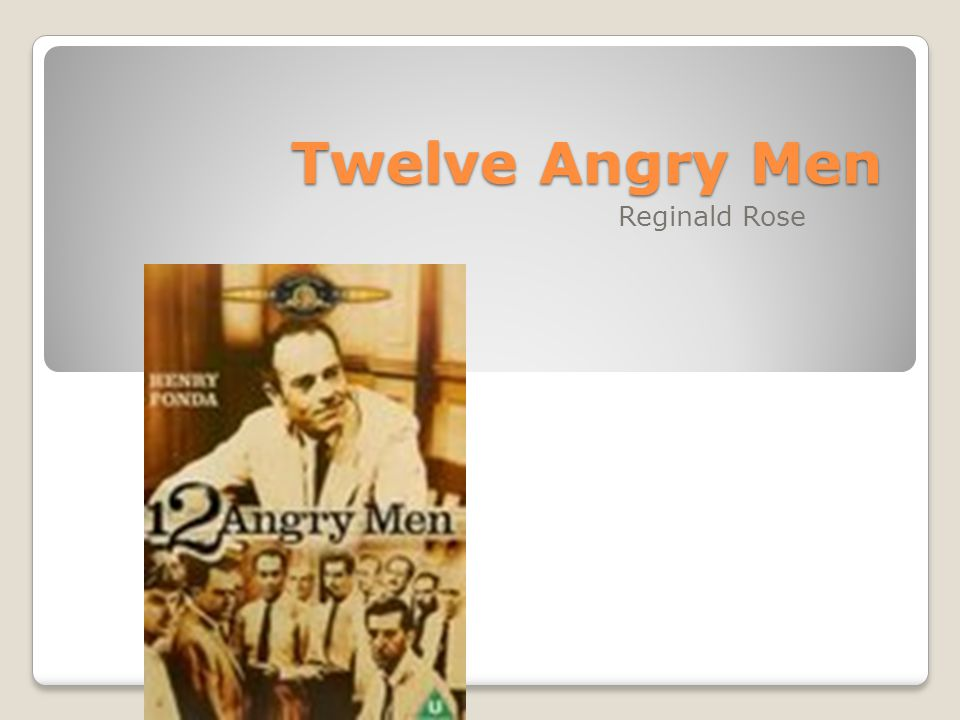 12 angry men by reginald rose Read, review and discuss the entire 12 angry men movie script by reginald rose on scriptscom.