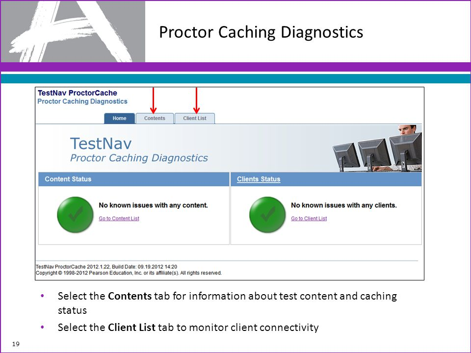 Proctor Caching Diagnostics