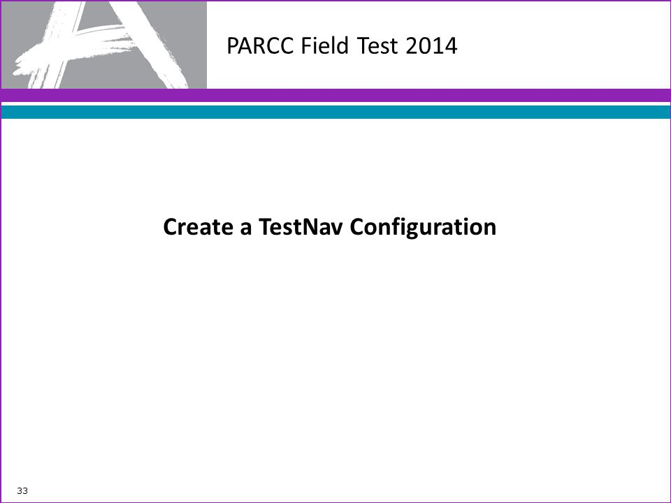 Create a TestNav Configuration
