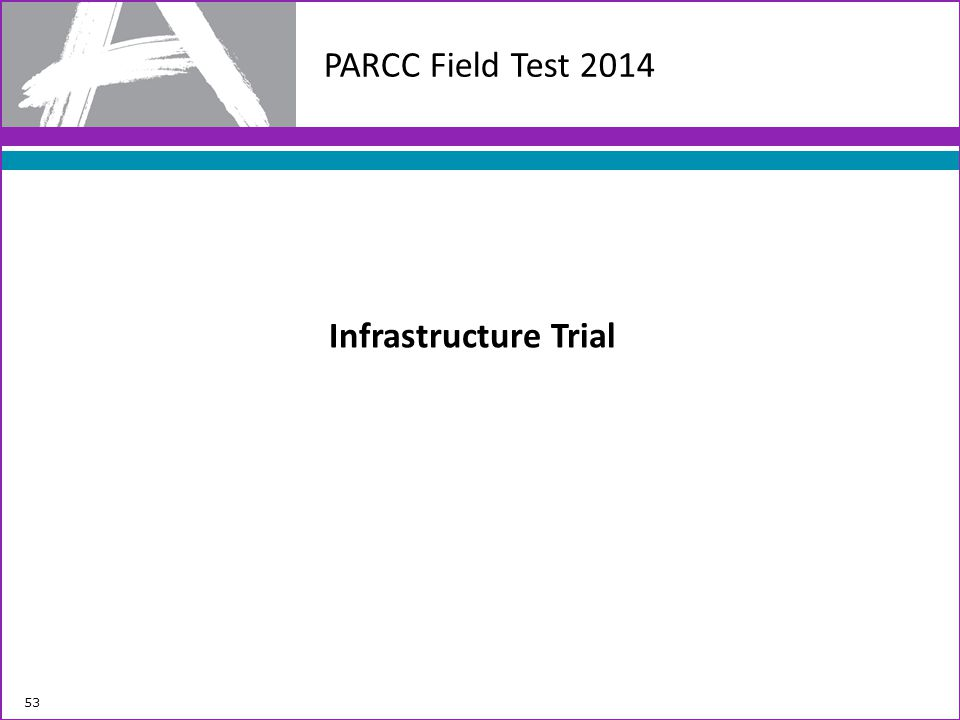 PARCC Field Test 2014 Infrastructure Trial