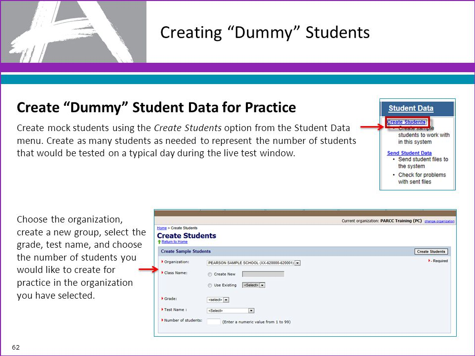Creating Dummy Students