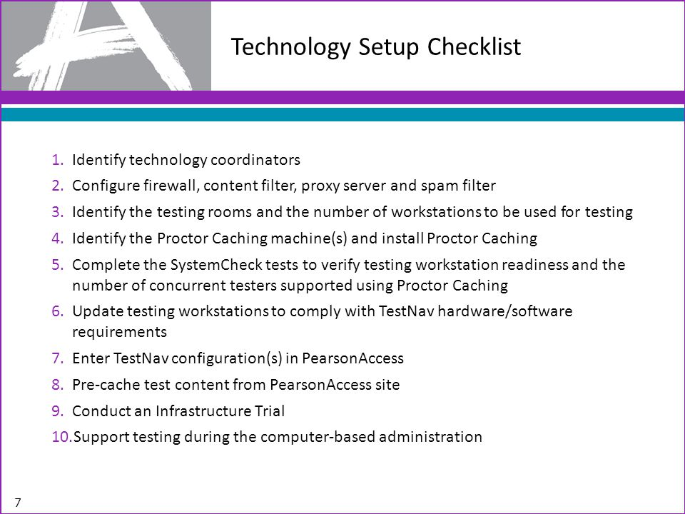 Technology Setup Checklist