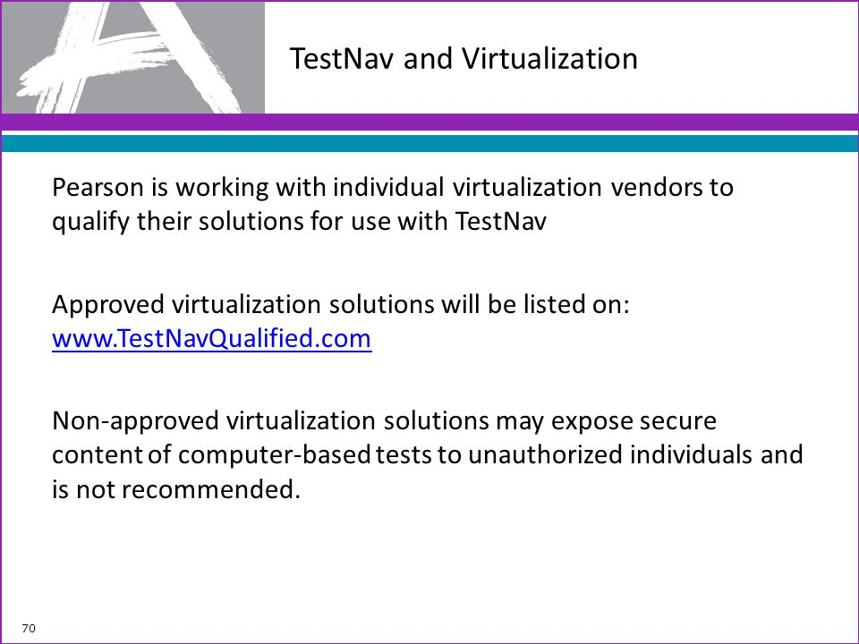 TestNav and Virtualization