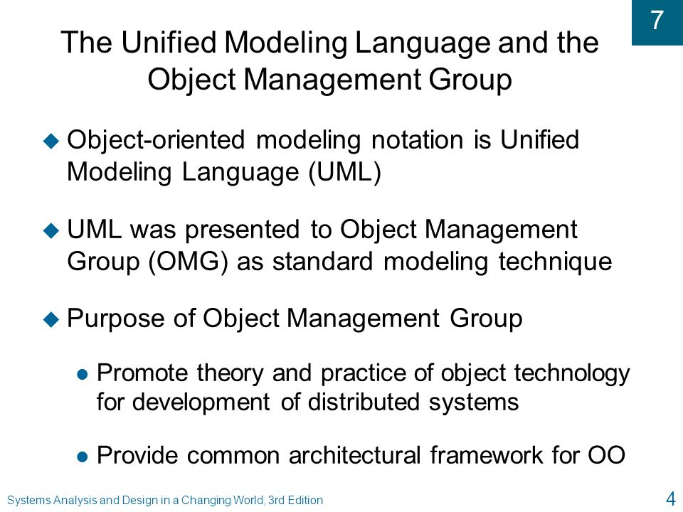 The Unified Modeling Language and the Object Management Group