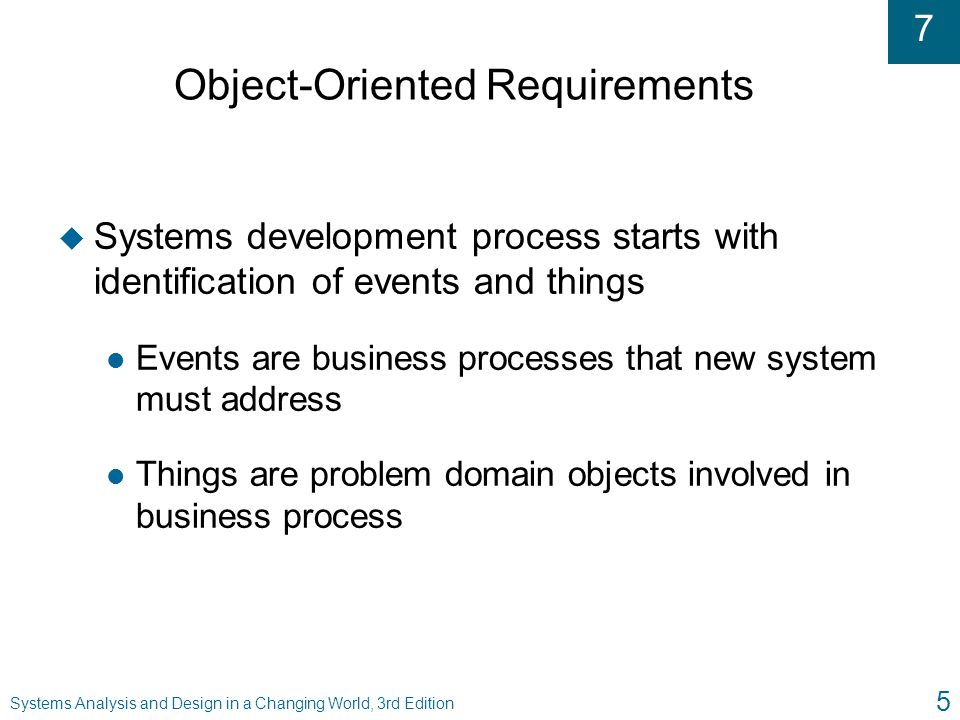 Object-Oriented Requirements