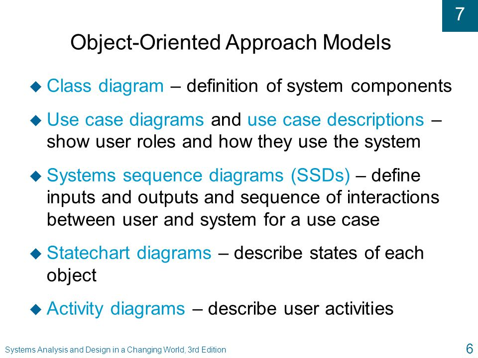Object-Oriented Approach Models