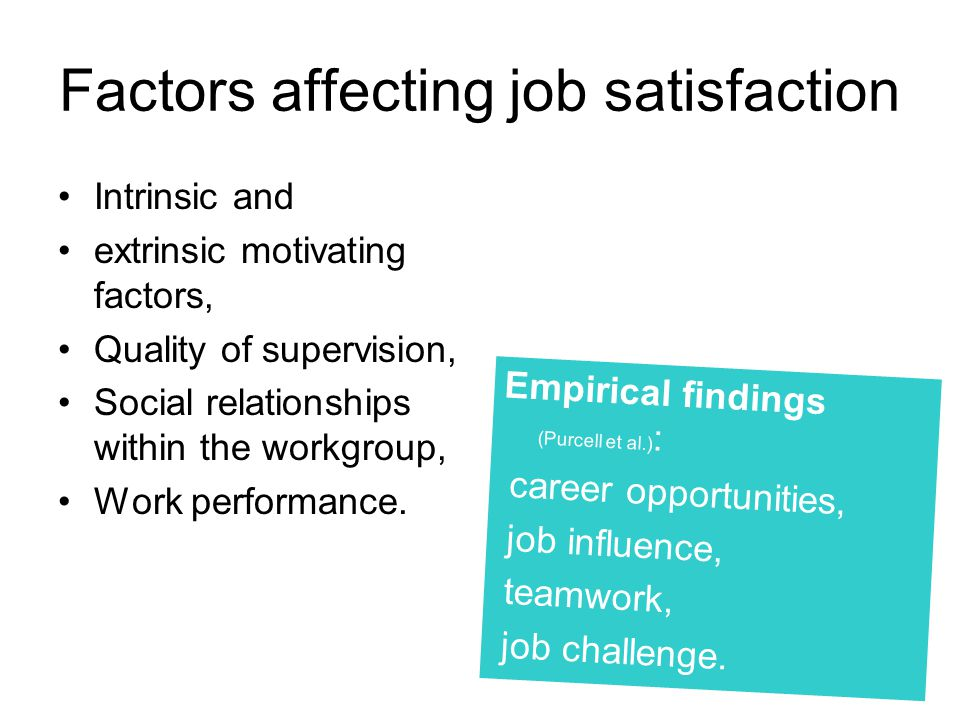 factors affecting job satisfaction of public Factors affecting employees' job satisfaction in public hospitals implications for  recruitment and retention ali mohammed mosadegh rad lecturer, health.
