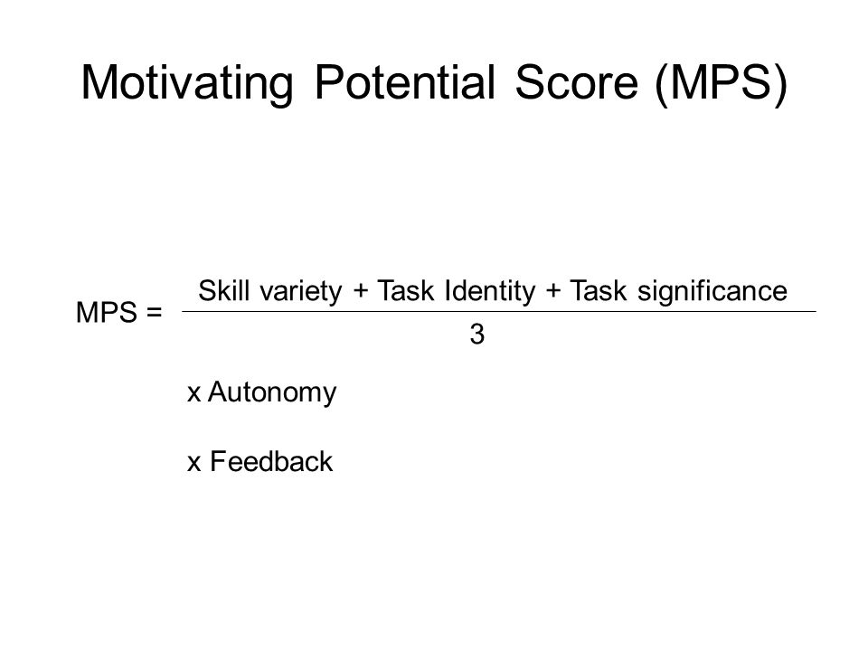 Motivating Potential Score (MPS)