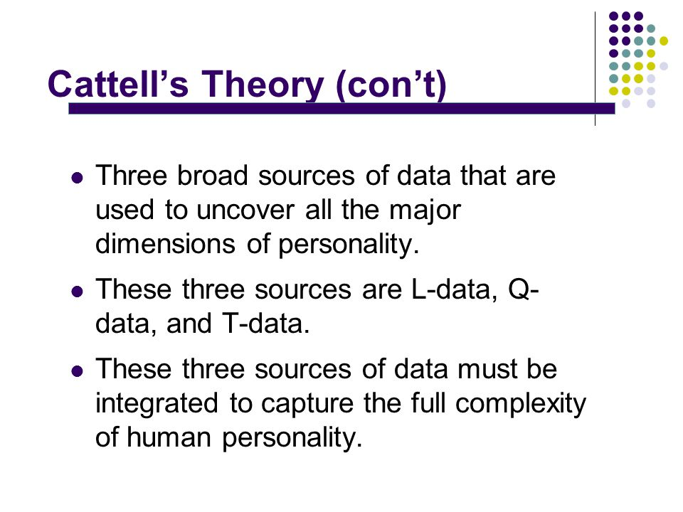 raymond cattell trait theory of personality pdf