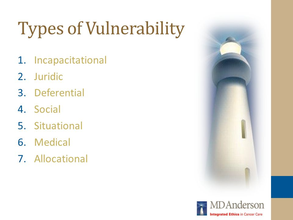 Types of Vulnerability