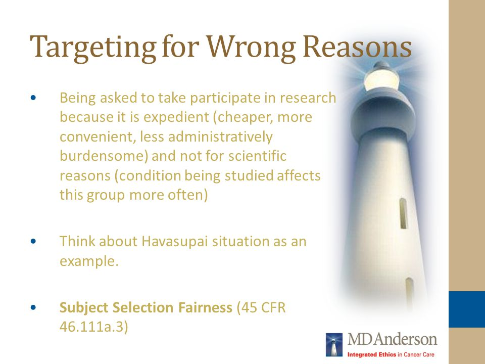 Targeting for Wrong Reasons